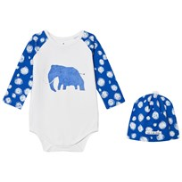 Noe & Zoe Berlin Blue Mammoth Hat and Baby Body Gift Set BLUE MAMMOTH