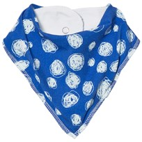 Noe & Zoe Berlin Blue Snow Printed Dribble Bib BLUE SNOW