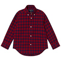 Ralph Lauren Red Gingham Long Sleeve Shirt 001
