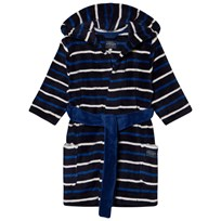 Tom Joule Navy and Blue Stripe Fleece Robe FRENCH NAVY STRIPE