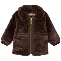 Mini Rodini Faux Fur Jacket Brown BROWN