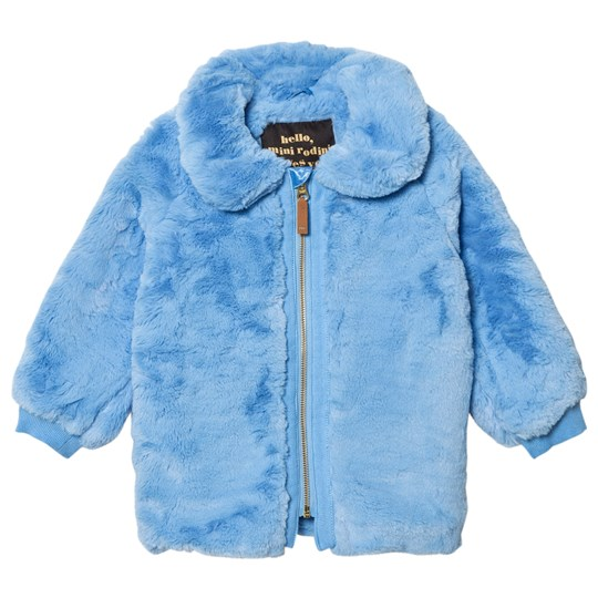 Mini Rodini Faux Fur Jacket Light Blue Blue