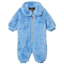 Mini Rodini Faux Fur Baby Coverall Light Blue Blue