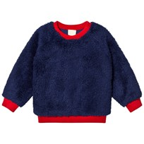 Mini Rodini Pile Sweater Blue Blue