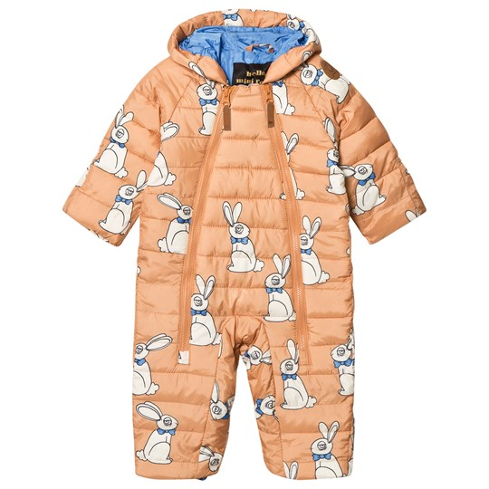 Mini Rodini Rabbit Insulator Baby Coverall Beige Beige