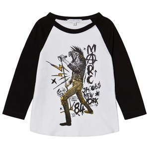 Image of Little Marc Jacobs Black and White Animal Rocker Print Tee 2 years (3056051095)