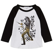 Little Marc Jacobs Black and White Animal Rocker Print Tee N50