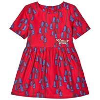 Mini Rodini Bluebell Woven Dress Red Red