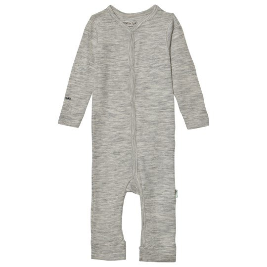 Mini A Ture Mattie Romper B Light Grey Melange Light Grey Melange