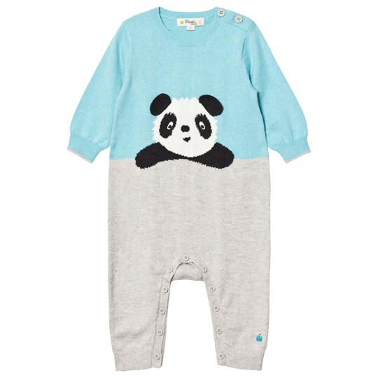 The Bonnie Mob Panda Intarsia One-Piece Pale Blue Pale Blue