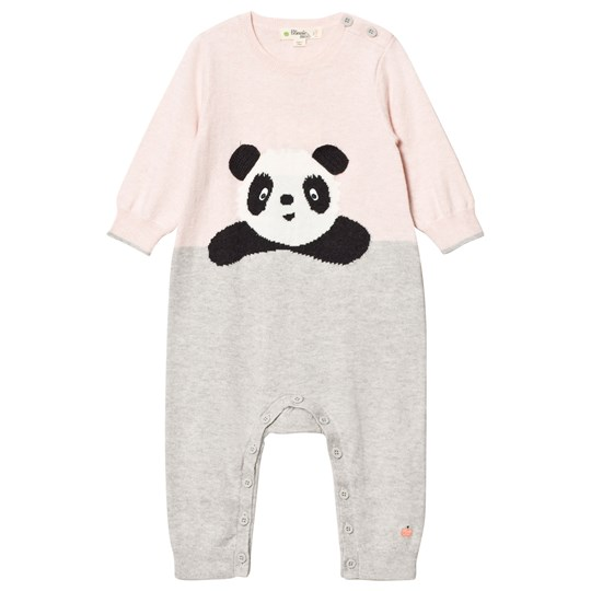 The Bonnie Mob Panda Intarsia Playsuit Pale Pinks Pale Pinks