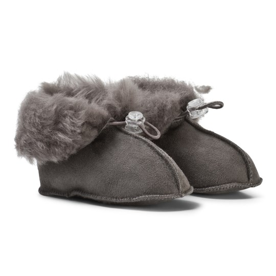Melton Lamb Wool Shoes Dark Grey Dark grey