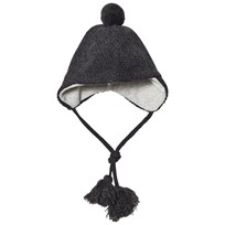 Melton Lamb Wool Sailor Tassel Hat Dark Grey Dark Grey melange