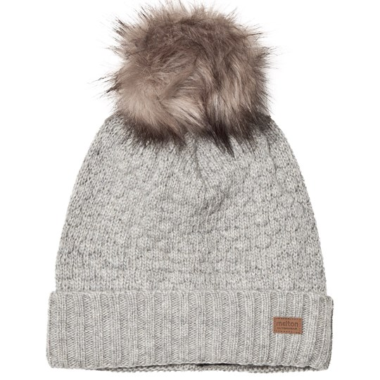 Melton Lamb Wool Sailor Hat Grey Light Grey Melange