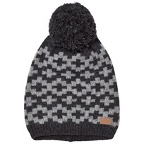 Melton Lamb Wool Knit Hat Dark Grey Dark Grey melange