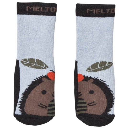 Melton Abs Socks Hedgehog Dark Grey melange