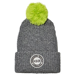 Image of Herschel Sepp Youth Beanie Heathered Grey/Neon Lime (2743792793)