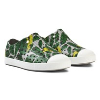 Native Grey Leaf Print Jefferson Rubber Trainers 8447