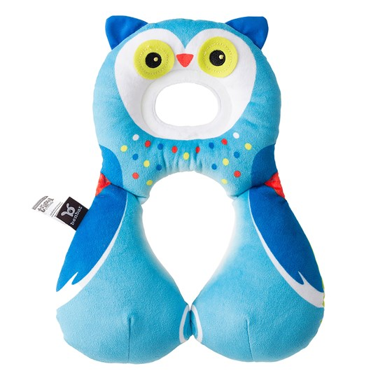 BenBat Travel Friend Owl Neck Pillow Blue