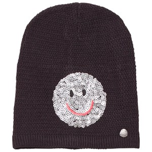 Image of Barts Black Smiley Face Fable Beanie 53 (4-8 years) (2743709593)