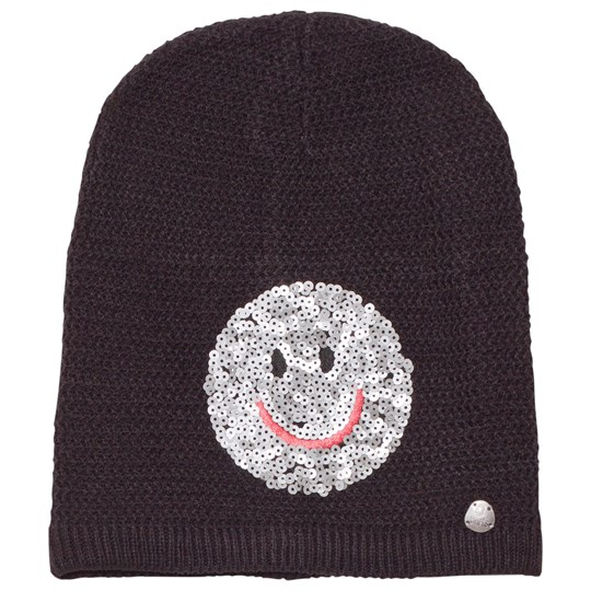 Barts Black Smiley Face Fable Beanie 01 BLACK