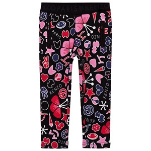 Image of Kenzo Black All Over Icons Print Treggings 14 years (2743728715)