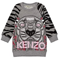 Kenzo Grey Tiger Print Sweater Dress 20