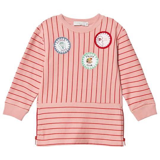 Stella McCartney Kids Pink Badge Stripe Dress 6563