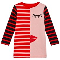 Stella McCartney Kids Pink/Red Face Stripe Kora Dress 5768