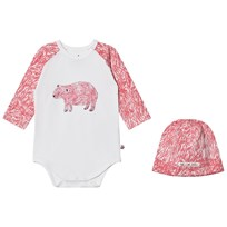 Noe & Zoe Berlin Pink Bear Hat and Baby Body Gift Set PINK BEAR
