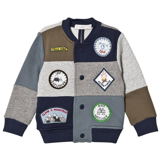 Stella McCartney Kids Multi Patch Badge Sweat Bomber Jacket 8490