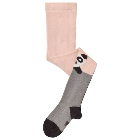 The Bonnie Mob Panda Tights Pale Pink Pale Pink