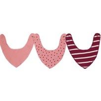 Kuling Kuling Newborn, Bib/Scarf, 3-pack, Dusty Rose Pink