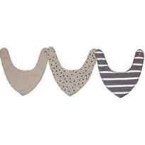 Kuling Kuling Newborn, Bib/Scarf, 3-pack, Dusty Grey Sort