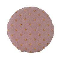 ferm LIVING Popcorn Round Cushion Dusty Rose Dusty Rose
