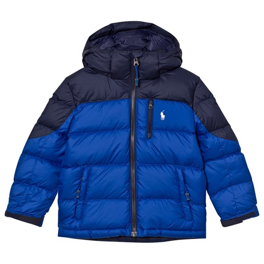 Ralph Lauren Navy and Blue Down Puffer Coat with Detachable Hood 004