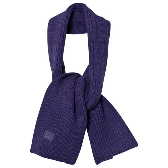 Acne Studios Wool Mini Bansy Scarf Royal Blue Sininen