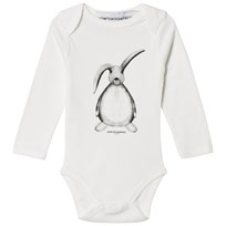How To Kiss A Frog Baby Body Hare Print Off White Off white