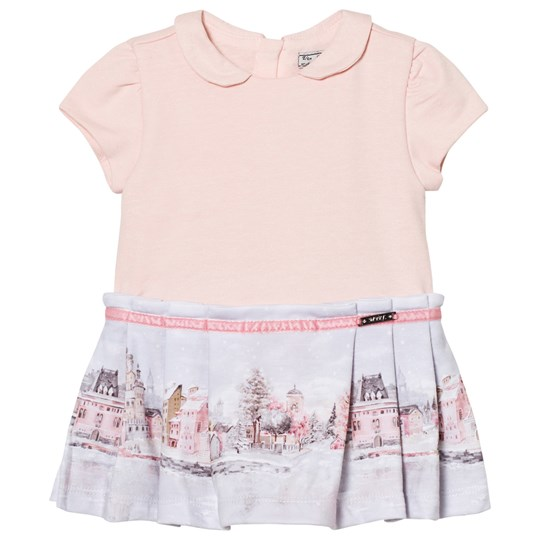 Mayoral Pale Pink Landscape Print Dress 32