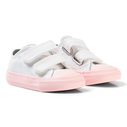 Converse White Chuck II All Star Velcro Trainer with Pink Sole