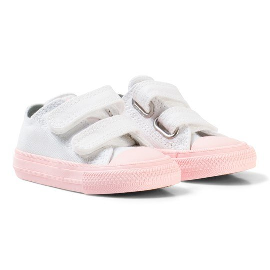 Converse White Chuck II All Star Velcro Trainer with Pink Sole WHITE/VAPOR PINK