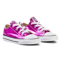 Converse Metallic Pink Chuck Taylor All Star Ox Trainers MAGENTA GLOW