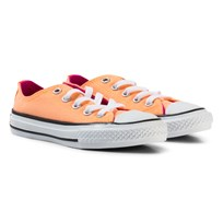 Converse Orange Chuck Taylor All Star Double Tongue Junior Trainers Sunset Glow/Hyper orange/Magenta Glow