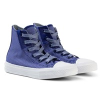 Converse Blue Chuck Taylor All Star II Junior Hi Tops True Indigo/Blue Granite/White