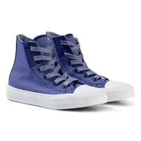 Converse Blue Chuck Taylor All Star II Junior Hi Tops Sneakers True Indigo/Blue Granite/White