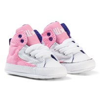 Converse Pink Chuck Taylor All Star First Star High Street Hi Tops Crib Shoes Pink Glow/White/true Indigo