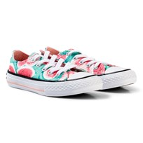 Converse Pink Watermelon Print Chuck Taylor Ox Trainers VAPOR PINK/GREEN