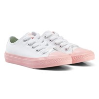 Converse White Chuck II All Star Sneaker with Pink Sole WHITE/VAPOR PINK