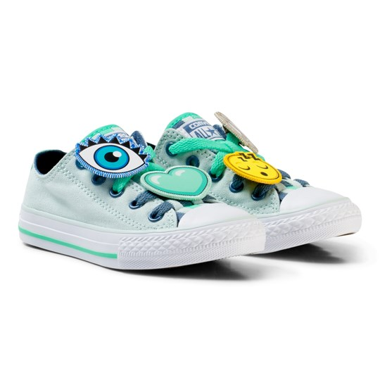 00549b790837 Converse Blue Chuck Taylor All Star Emoji Energy Loophole Sneakers FIBER  GLASS BLUE