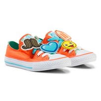 Converse Orange Chuck Taylor All Star Emoji Energy Loophole Sneakers WILD MANGO